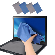 Large 4-Pack Microfiber Cleaning Cloth For Camera, Lens, Eyeglass, Glass, P