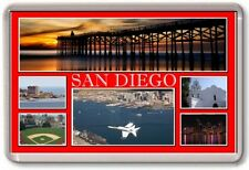 FRIDGE MAGNET - SAN DIEGO - Large - USA TOURIST