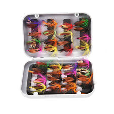 New Double Side Waterproof Fly Box Packed 32 Assorted Nymphs Trout Flies