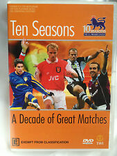 TEN SEASONS ~ A DECADE OF GREAT MATCHES ~ AS NEW DVD ~ 160 MINS