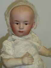 "9"" Antique German Bisque Heubach #34 Pouty Baby w/Blue Intaglio Eyes"