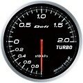 DEFI LINK METER ADVANCE BF TURBO BOOST GAUGE -2 BAR 60MM DF09901 WHITE