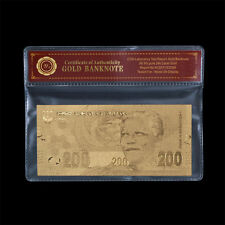 NELSON MANDELA 200 RAND Valuable Banknote In Circulation Gold South Africa Note