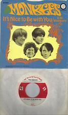 THE MONKEES  It's Nice To Be With You / D.W. Washburn original 45 with PicSleeve