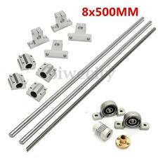 15pcs 8mm 500mm Linear Shaft Rod Rail Kit W/ Bearing Block For 3D Printer CNC