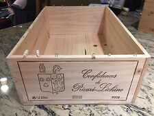 CHATEAU CONFIDENCES DE PRIEURE LICHINE 2009 FRENCH WOOD WINE CRATE FOR 12 BOTTLE