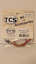 """TCS #1411 6-Pin 2x3 Connector with 32 ga. 6"""" multi-colored Wires NEW"""
