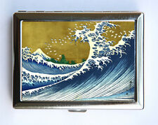 Japanese Wave Cigarette Case Wallet Business Card Holder tattoo woodblock