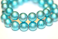 100pc 12mm Light Sky Blue Loose Beads-Glass Beads 1-3 day Shipping
