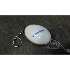 Siren Song Keychain Personal Security Alarm, White with 4 Extra Batteries