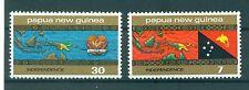 CARTE & DRAPEAU - MAP & FLAG PAPUA NEW GUINEA 1975 Independence set