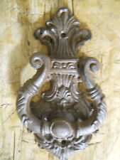Cast Iron Antique Style VICTORIAN  SCROLL Door Knocker Brown Finish