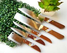 SET 5 CHEF KNIFE KITCHEN KNIVES STAINLESS STEEL VINTAGE CUTLERY KIWI BLADE SHARP