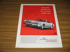 1966 Print Ad The '66 Oldsmobile Toronado Olds Front Wheel Drive