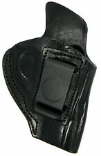 BLACK LEATHER INSIDE PANTS IWB CCW HOLSTER w/ COMFORT TAB - RUGER LCR REVOLVER