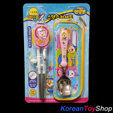 Pororo Stainless Training Chopsticks/Spoon/Case Set Edison Right Handed v. Petty