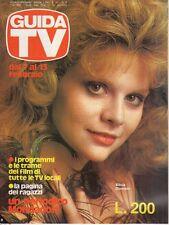 rivista GUIDA TV ANNO 1982 NUMERO 5 SILVIA DIONISIO