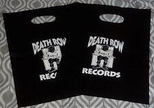 DEATH ROW RECORDS pro CD LOGO BAG (set of 2) DR DRE 2PAC SNOOP DOGGY DOGG