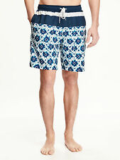 OLD NAVY Shibori Printed Swim Trunks for Men size LARGE NWT