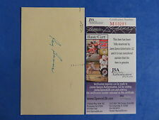 RAY BOONE SIGNED GPC GOVERNMENT POSTCARD ~ JSA M03281 ~ INDEX TIGERS / INDIANS