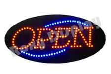 Big Bright Open LED Sign - Red & Blue Flash #AC-OP122