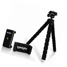 iGadgitz Lightweight Large Universal Flexible Foam Mini Tripod with Universal Sm