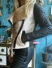 Muubaa Sheepskin Shearling Leather Vest Jacket Sz 10/6/38