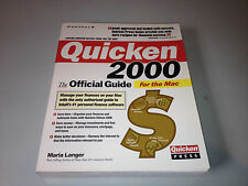 Quicken 2000 for the Mac : The Official Guide by Maria Langer (1999, Paperback)