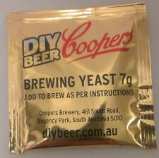 Coopers Yeast for home brew ale beer brewing 7g sachet Diy Beer Fast Delivery