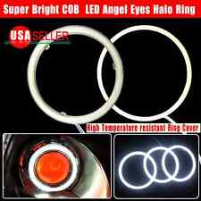 US 2X 100mm HID White 117 COB LED 12-24V Angel Eyes Halo Ring Fog Housing Lamp