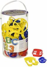 Wilton Colorful 50 Piece Cookie Cutter ABC & 123 Cutter Kitchen Set
