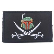Boba Fett Swords Star Wars Embroidered Cosplay Airsoft Patch