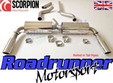Scorpion Clio 197 Exhaust System Cat Back Non-Res With De Cat Inward Roll Tails