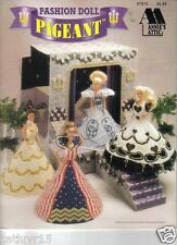 Fashion Doll Pageant ~   plastic canvas, SOFT COVER  book