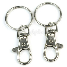 12x Silver Plated Metal Swivel Lobster Clasps Clip Hook For DIY Bag And Keyrings
