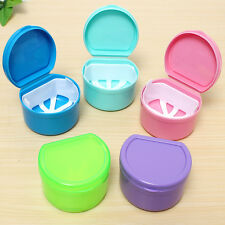 Dental Orthodontic Retainer Denture Storage Case Box Mouthguard Container Tray C