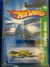 Hot Wheels 2007 Treasure Hunt 6/12 Yellow and Blue Hammer Sled with case