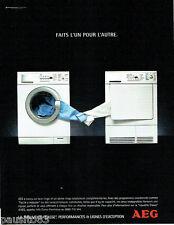 PUBLICITE ADVERTISING 026  2004  AEG  lave linge sèche linge