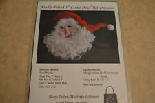 """Needle Felted 5"""" Santa Head hand knitting pattern #W303P by Wistyria Editions"""