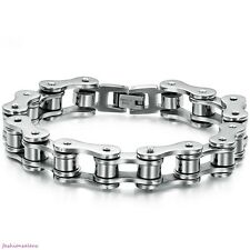 13mm Mens Stylish Biker Stainless Steel Motorcycle Chain Bracelet Wristband Link