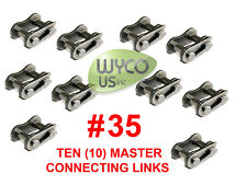 TEN MASTER CONNECTING LINKS #35 FOR ROLLER CHAIN #35, GO KARTS,4X4,SCOOTERS #175