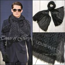Louis Vuitton Mens RUNWAY Signature Damier Graphite CASHMERE SILK Long Scarf