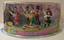 Disney Pirate Fairy Tinkerbell Figure Play Set Figurine Zarina Fawn Silvermist
