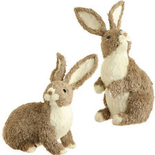 3521911 LARGE RAZ Tan Rabbit Easter Spring Table Decoration Woodland Bunny