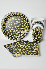 Emoji Birthday Party Set Plates Cups Napkins Paper Cups Party Supplies
