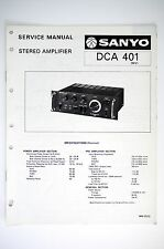 SANYO DCA 401 Amplifier Original Service Manual/Guide/Wiring diagram! o54
