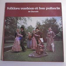 """33T Les PLAINAUDS Disque LP 12"""" FOLKLORE VENDEEN BAS POITEVIN - DISCO ROUET 605"""