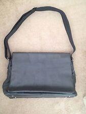 Mens Black Leather Briefcase/Satchel - Jasper Conran - Debenhams Designer - VGC