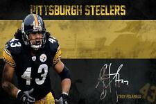 Pittsburgh Steelers Troy Polamalu Poster 24x36 Banner Wall Art Home Decor