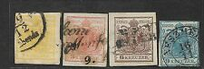 1850 AUSTRIA STAMPS IMPERF 1KR TO 9 KR USED